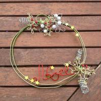 Bricolage de Noël : Couronne de porte en fil alu