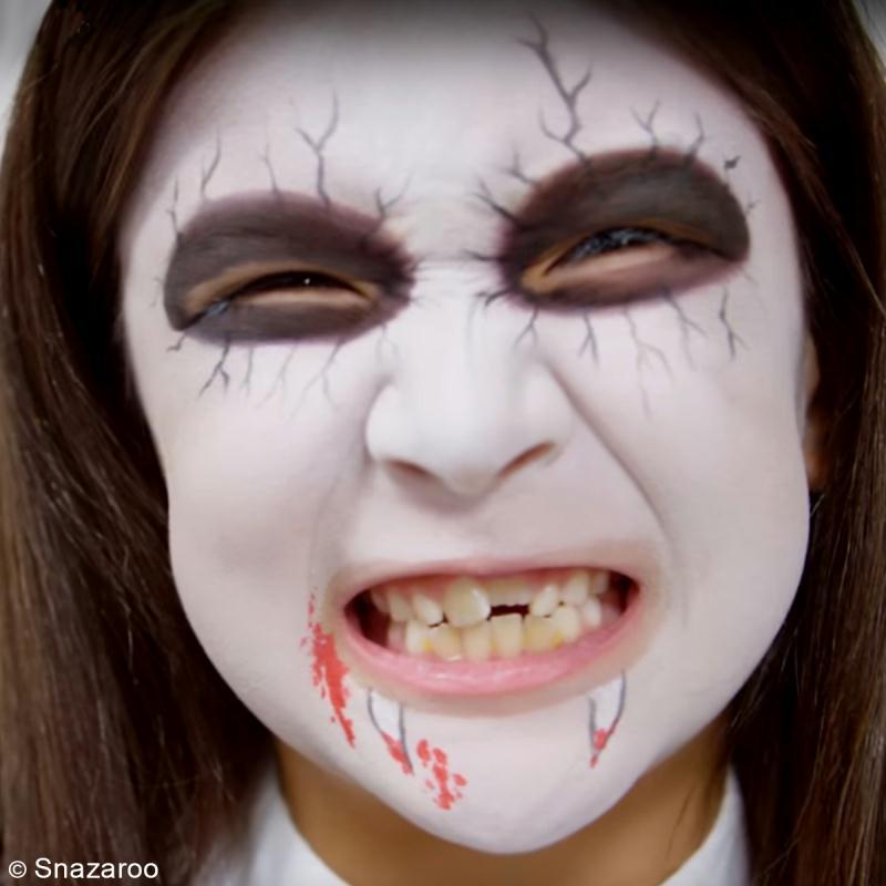 maquillage vampire femme etape