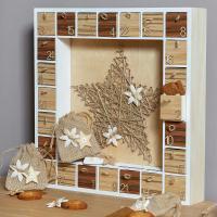 Bricolage Noël : Calendrier de l'Avent Nature chic