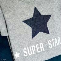 Customisation textile : Etoile Super Star