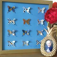 Tutoriel Home Deco : Cadre papillons