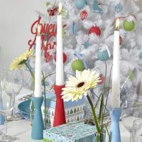 Tuto déco de table de Noël : Set de bougeoirs