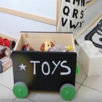DIY facile pour Chambre d'enfant : Customiser un coffre à jouets (vidéo)