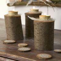 Décoration de Noël facile : Bougeoirs et déco de table en bois