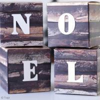 Tuto déco facile : Cubes de Noël