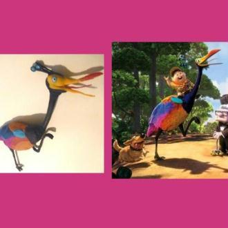 Oiseau du paradis en pâte Fimo