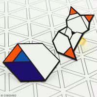 DIY Bijou : Jolie broche géométrique en plastique fou