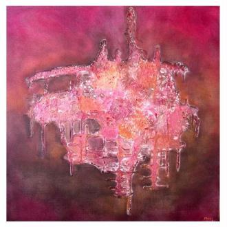 Powertex abstrait sur toile