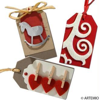Etiquette cadeau pour la décoration de Noel