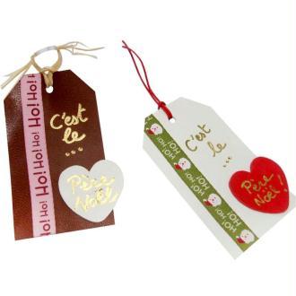 Etiquettes pour paquets cadeaux de Noël