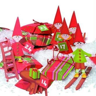 Calendrier de l'Avent Lutins du Père Noël