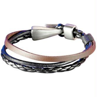 Bracelet cuir 3 lanières