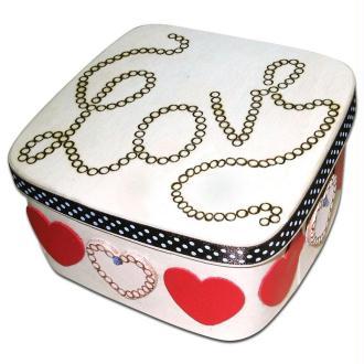 Boîte en bois Love pyrogravée pour la Saint Valentin