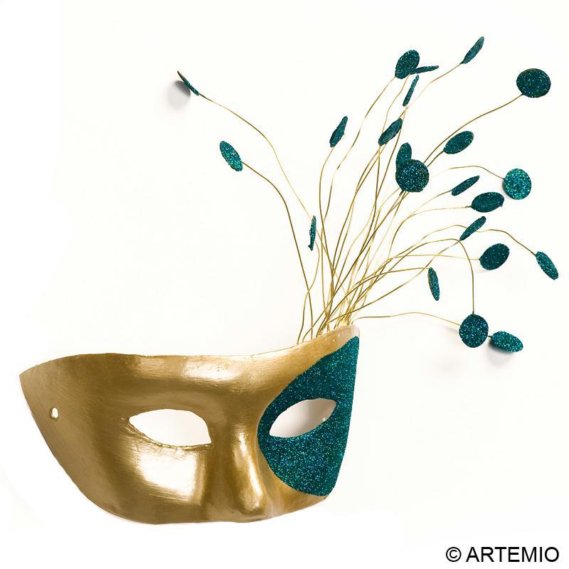 masque loup or et paillettes pour mardi gras id es. Black Bedroom Furniture Sets. Home Design Ideas