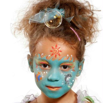 Maquillage carnaval princesse des mers