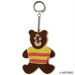 5. Porte-clés en feutrine Monsieur Ours brun