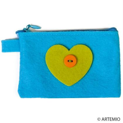 Fabriquer un porte-monnaie en feutrine pour fête des mères à moins de 2 euros
