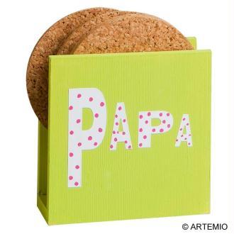 Personnaliser des porte serviettes en bois pour Papa