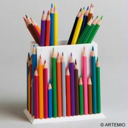 Bricolage et id es cadeaux f te des p res et f te des m res - Bricolage pot a crayon facile ...