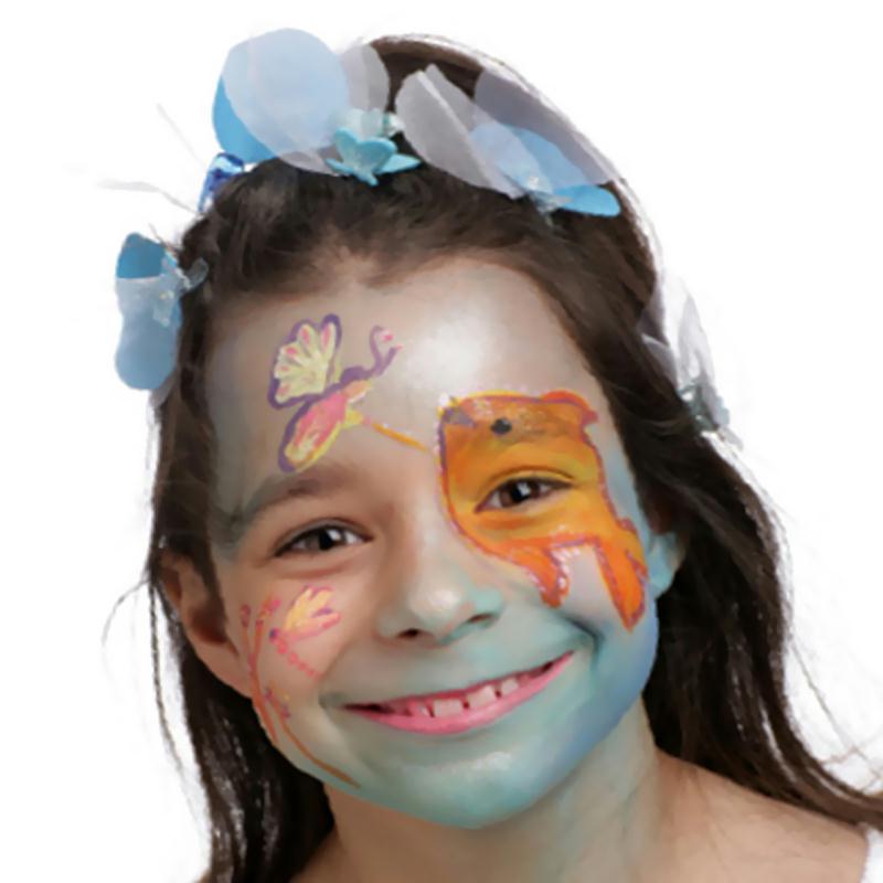 Mod le de maquillage enfant reine du lac id es conseils et tuto maquillage - Modele poisson ...