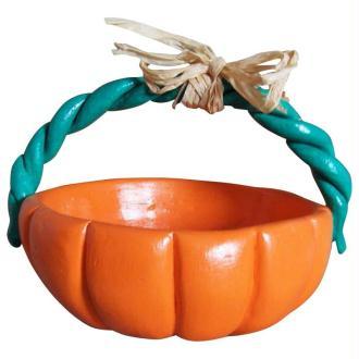 Le panier à bonbons d'Halloween