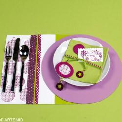 1. Décorer un set de table et la serviette