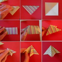 1. Réalisation du sapin origami