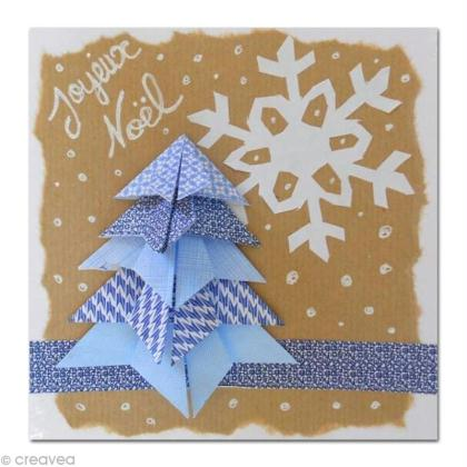Carte de voeux le sapin en origami id es conseils et tuto carte de voeux - Tuto carte de voeux ...