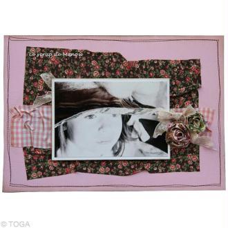 Faire des roses en tissu avec le fabric tape Dailylike