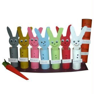 Fabriquer le semainier des petits lapins avec un enfant