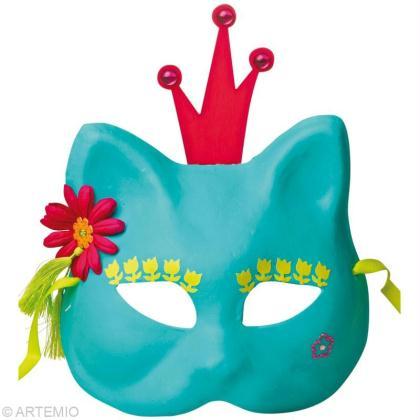 D corer des masques de carnaval enfants id es conseils for Decorer un masque blanc