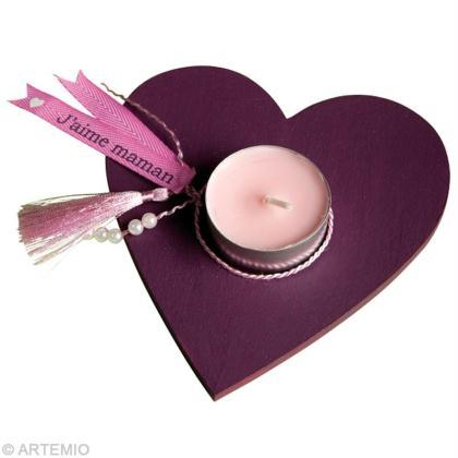 faire un cadeau pour maman bougeoir personnalis coeur id es conseils et tuto f te des m res. Black Bedroom Furniture Sets. Home Design Ideas