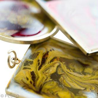 Création pendentif fantaisie moon - bijoux peinture moon en vidéo