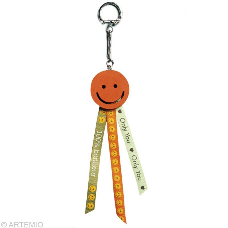 Cr er un cadeau de f te des p res porte cl smiley id es conseils et tuto f te des p res - Ouvrir une porte avec une carte ...