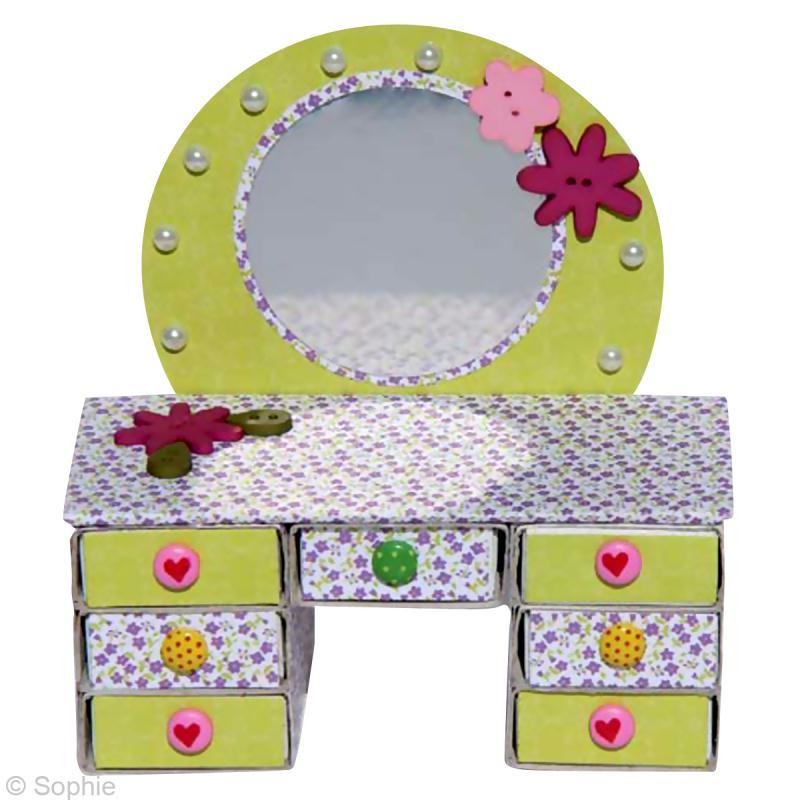 fabrication bo te bijoux mini coiffeuse en bo tes d. Black Bedroom Furniture Sets. Home Design Ideas