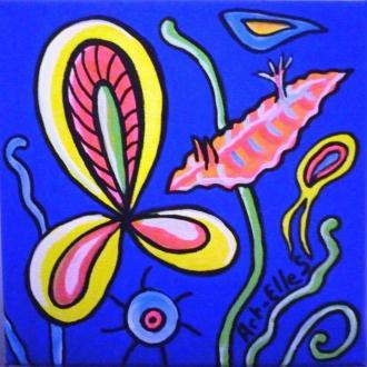 Dessiner aux feutres Posca un tableau Bio marine