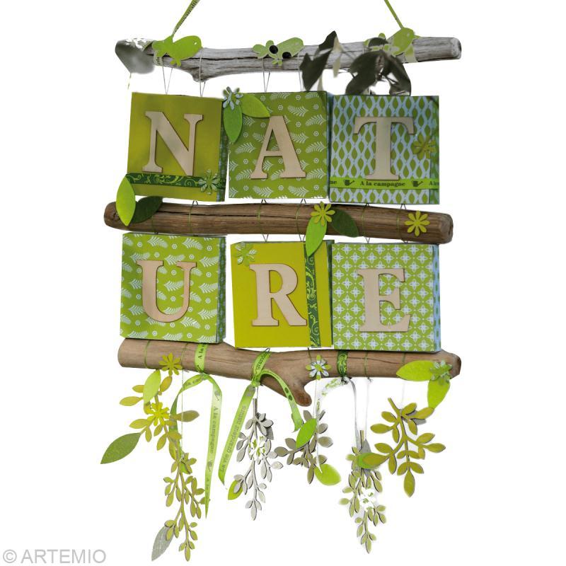 bricolage nature scrap et bois flott id es conseils et tuto home d co cadre tableau. Black Bedroom Furniture Sets. Home Design Ideas