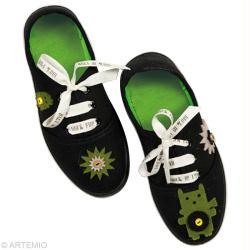 customiser ses chaussures pour l 39 t id es conseils et tuto customisation. Black Bedroom Furniture Sets. Home Design Ideas