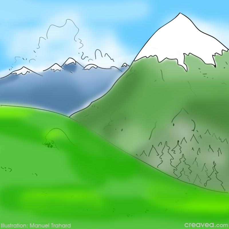Coloriage Vacances A La Montagne Idees Conseils Et Tuto Coloriage