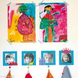 D corer le porte manteau la maternelle id es conseils - Decoration des classes pour la rentree scolaire ...
