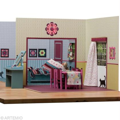 d corer une maison de poup e barbie id es conseils et tuto couture. Black Bedroom Furniture Sets. Home Design Ideas