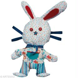 3. Etapes de réalisation du doudou lapin en tissu