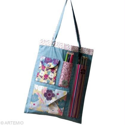 faire un sac en tissu pour les loisirs cr atifs id es conseils et tuto couture. Black Bedroom Furniture Sets. Home Design Ideas