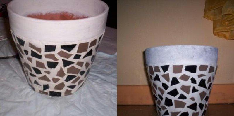 de jolis motifs pour vos pots de fleurs sourour et son partage au quotidien. Black Bedroom Furniture Sets. Home Design Ideas
