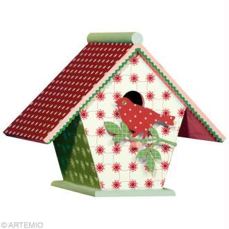 Décorer un nichoir pour Noël 2012