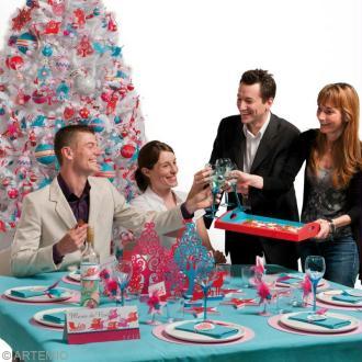 Déco de table de Noël à faire soi-même : Noël contemporain 2013