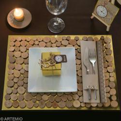 Fabrication de deco de noel pour table