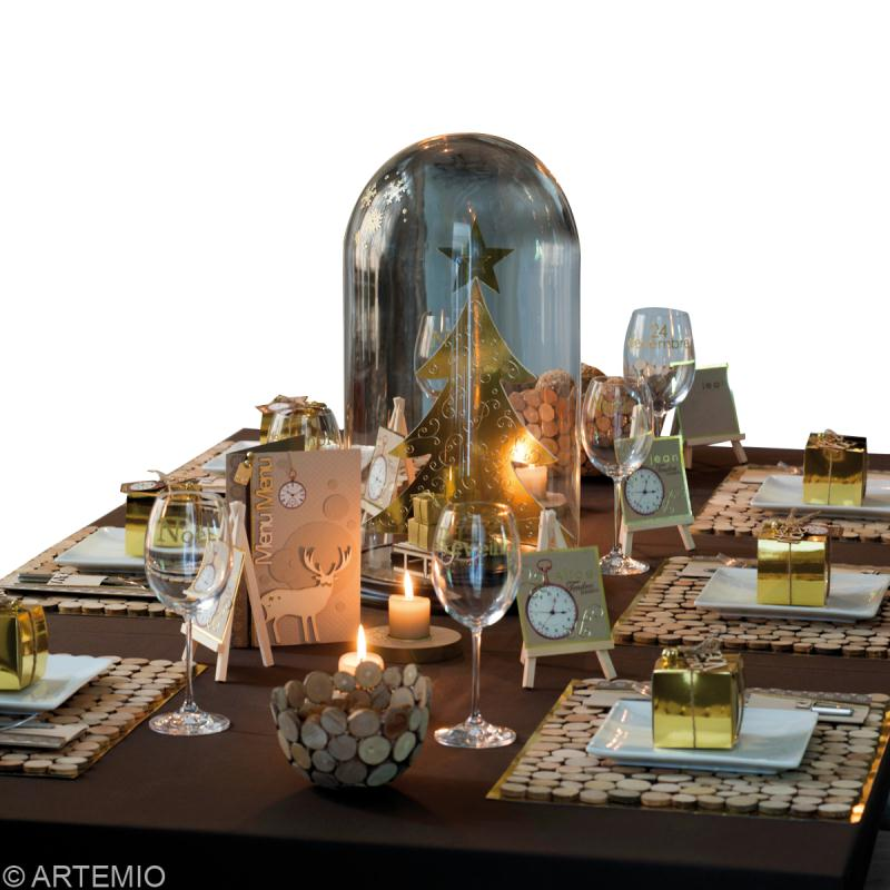 d co de table no l or et bois id es conseils et tuto d coration de table. Black Bedroom Furniture Sets. Home Design Ideas