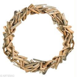 Fabriquer une couronne de no l en bois flott id es for Couronne en bois flotte
