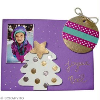Carte de Noël à la pyrodorure